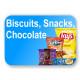 Biscuits, Snacks & Chocolates