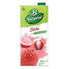 B Natural Litchi Juice 1Ltr
